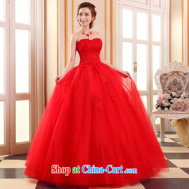 Sophie than AIDS summer 2015 new, wipe it off his chest, wedding red wedding dresses stylish Korean Beauty graphics thin wedding, tie wedding A field dress red XXL