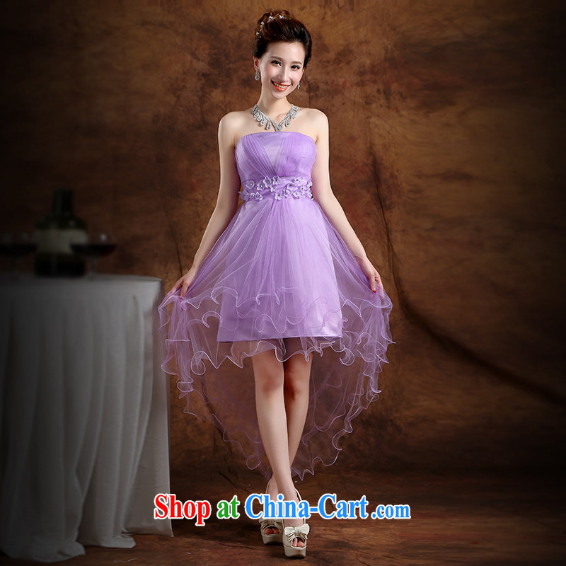 The Vanessa summer 2015 bridal wedding dress purple strap bridesmaid dress Beauty Chest Mary Magdalene sisters skirt show Annual Meeting hosted banquet dress bridesmaid dresses in light purple XXL _intimate tie-free adjustment_