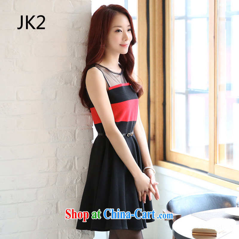 Korean version the waist the skirt, shoulder 100 solid ground skirt hit the color code dress dresses JK 2 9825 black XXXL