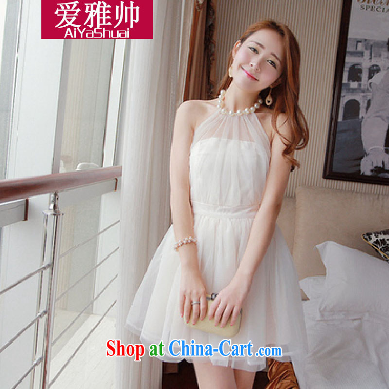 Love, Jacob Shuai 2014 new night Pearl is also sexy exposed back Princess shaggy Web yarn small dress dress white are code