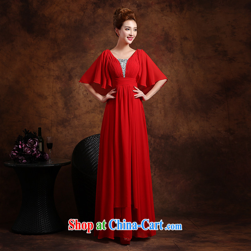 Wei Qi 2015 new summer wedding dresses bridal toast service banquet service long marriage dress female Red XXL