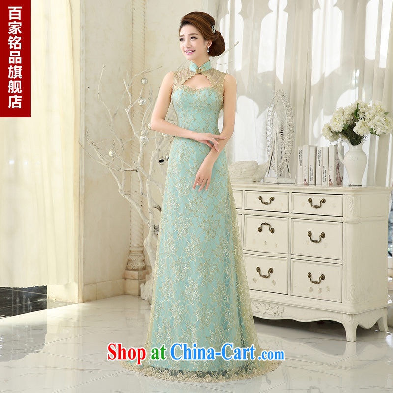 Evening Dress long, summer 2015 new bride toast clothing stylish graphics thin crowsfoot dresses evening dress luxurious evening dress new discount game ice blue. size 5 - 7 day shipping