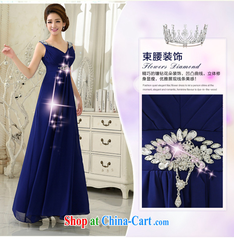 wedding dresses 2015 New royal blue Deep V collar lace long dress marriages served toast bridesmaid dress etiquette presided over his genuine promotional package mail Po blue XXL pictures, price, brand platters! Elections are good character, the national distribution, so why buy now enjoy more preferential! Health