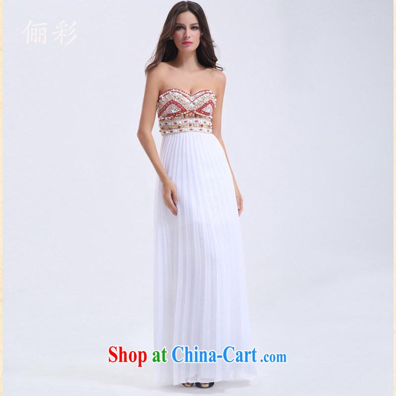 An MMS message service toast bridesmaid clothing snow woven skirts moderator dance dress sexy dress long dress dress white XL