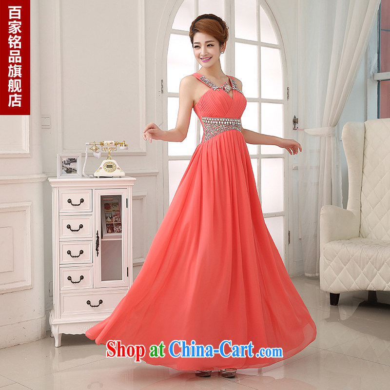 Evening dress uniform toast 2015 new marriage red bridal toast clothing bridesmaid dresses high chair wood drill Evening Dress snow woven dresses and package mail watermelon Red. size 5 - 7 day shipping