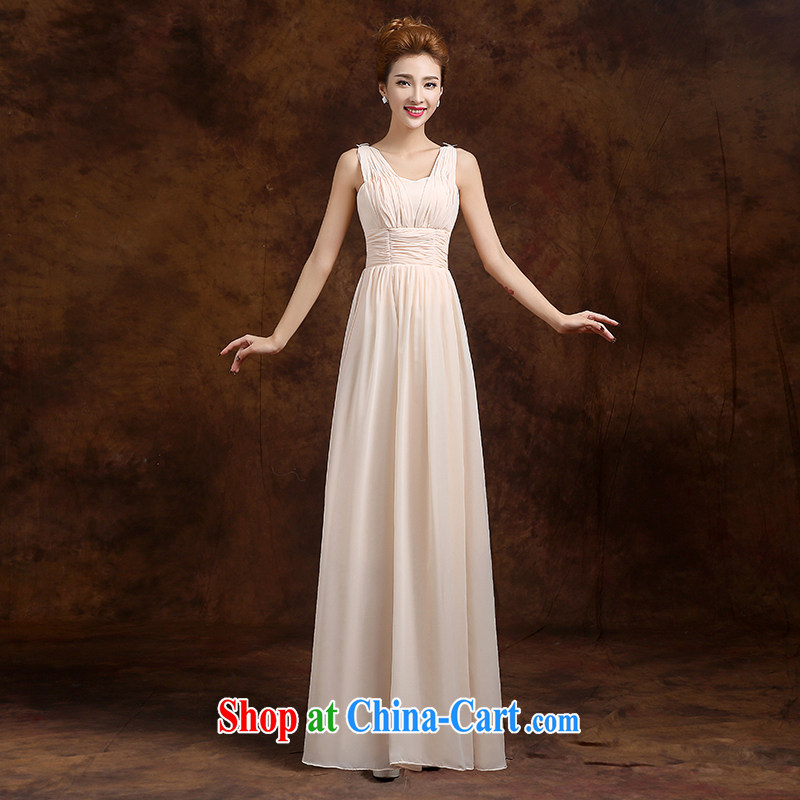 Donald Rumsfeld, the more than 2015 new summer wedding dresses Korean bridal wedding bridesmaid sisters served toast in serving long evening dress bridesmaid dress graduation ball champagne color shoulders A XL
