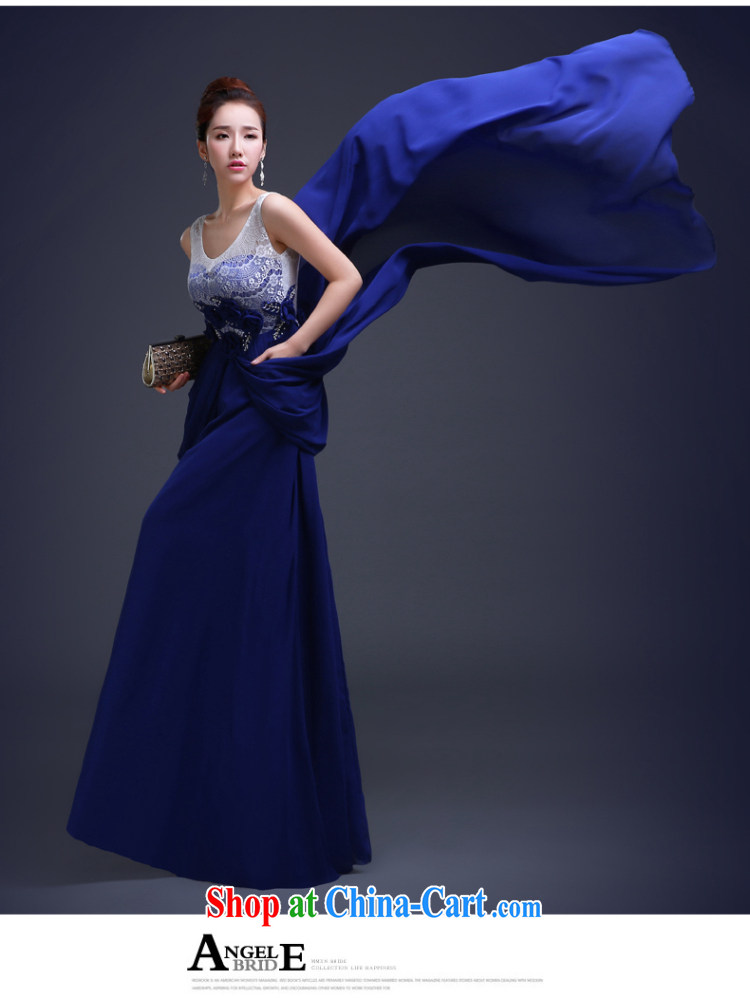 2015 fall and winter New Evening Dress royal blue long, cultivating bridesmaid sisters served as banquet annual meeting moderator dress uniforms blue L pictures, price, brand platters! Elections are good character, the national distribution, so why buy now enjoy more preferential! Health