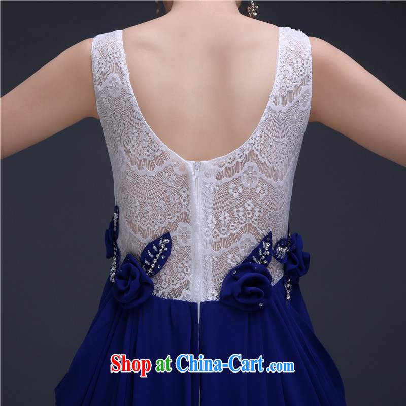 2015 fall and winter New Evening Dress royal blue long, cultivating bridesmaid sisters served as banquet annual meeting moderator Evening Dress uniforms blue L, 100-ball (Ball Lily), and shopping on the Internet