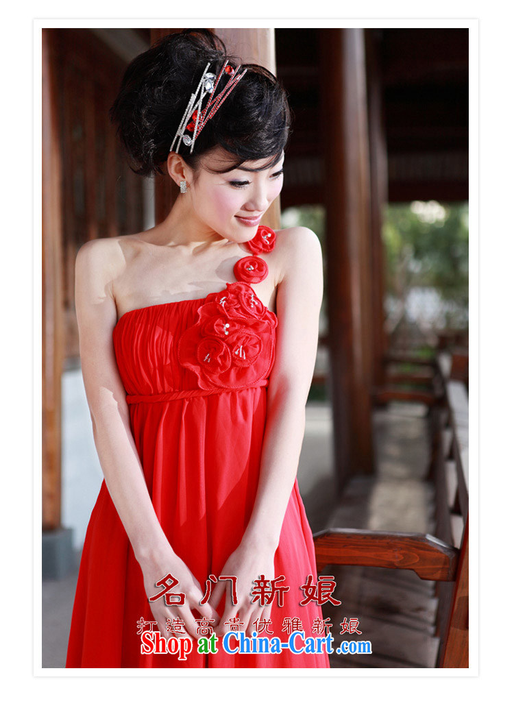 The bride's wedding dresses red dress single shoulder wedding dress wedding dress toast 783 L pictures, price, brand platters! Elections are good character, the national distribution, so why buy now enjoy more preferential! Health