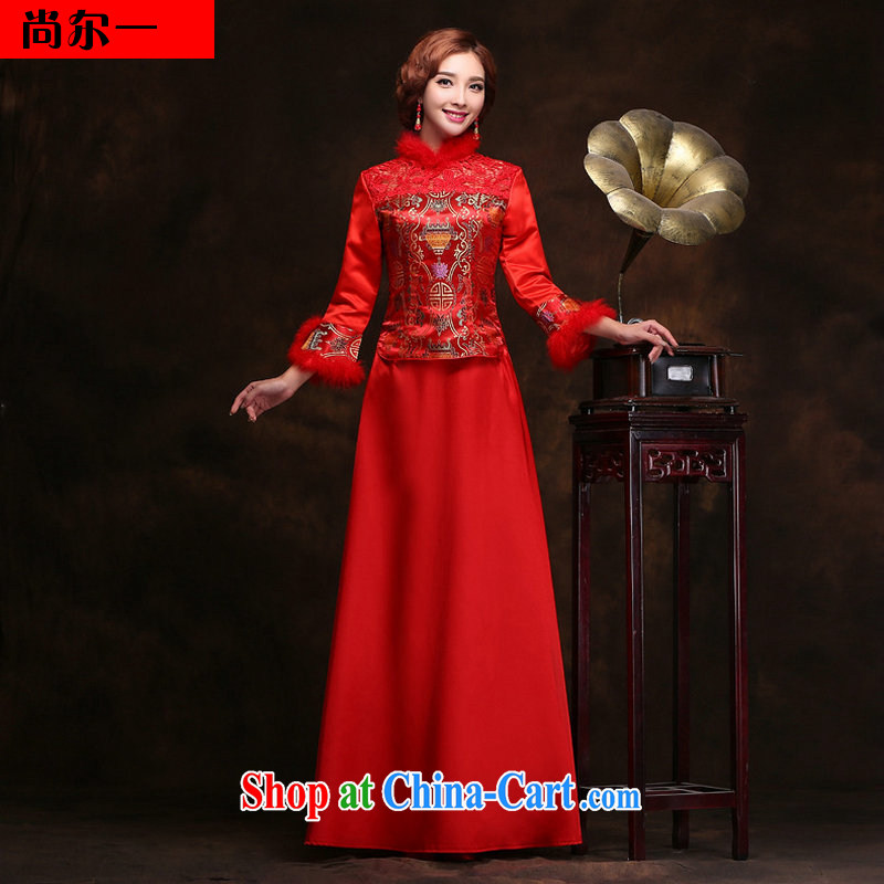 Still, 12,014 new winter long-sleeved quilted thick cotton wedding winter red wedding bridal YY 2098 red XXL