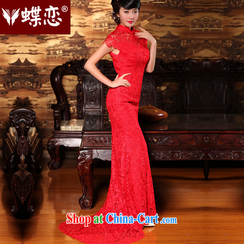 Butterfly Lovers 2015 summer, winter clothing retro improved wedding dresses long dresses, bridal the liquor service wedding dress 49,160 red new pre-sale 7 Day Shipping XXL