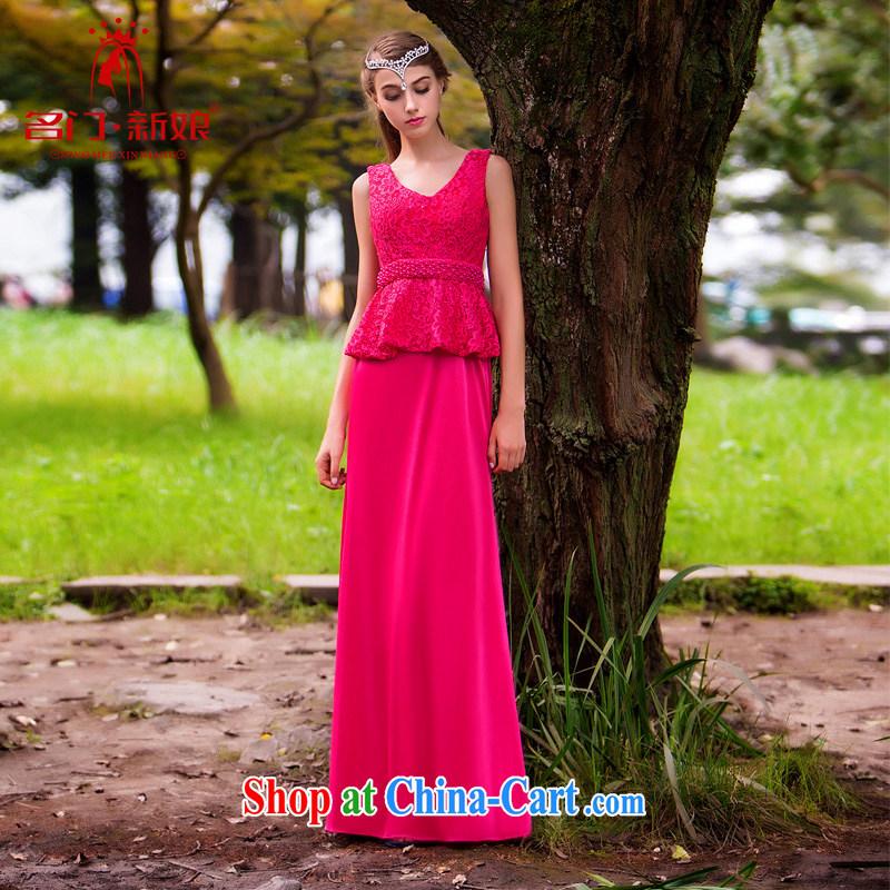 The bridal dress 2015 new the red dress Evening Dress bride dress toast 242 L