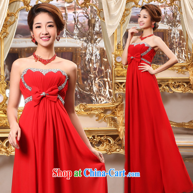 A good service is 2015 New Red bridal wedding dress pregnant women long wedding toast serving the code mm thick red 5 XL