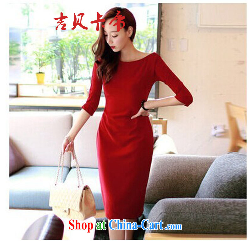 The Bekaa in Dili #173 female a field for sense of the forklift truck dress name Yuan beauty charm dress long red XL