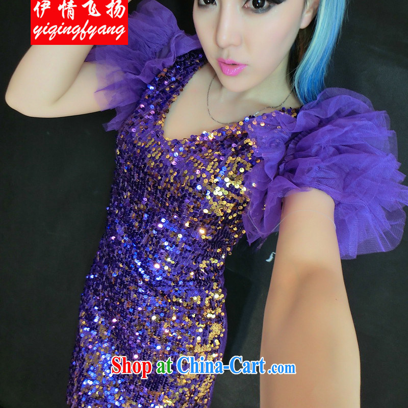 Red shinny 2015 night lights, bubble cuff modern dance lace sexy show dresses F C 4009 838 purple are code