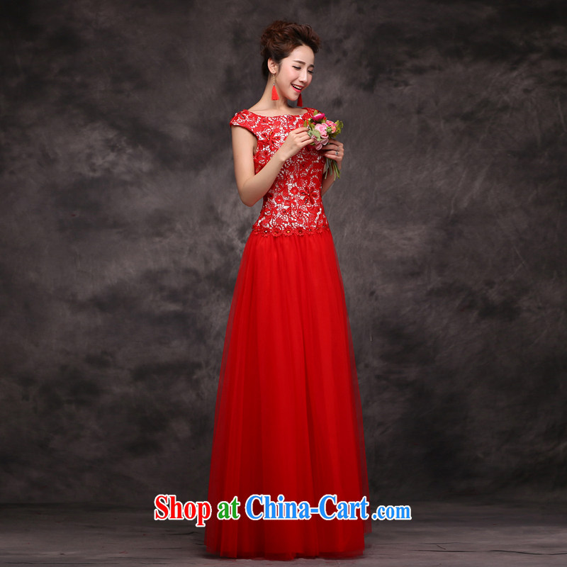 Cheng Kejie MIA toast Service Bridal Fashion 2014 New Red marriage wedding dresses moderator Tuxedo female beauty long red XXL