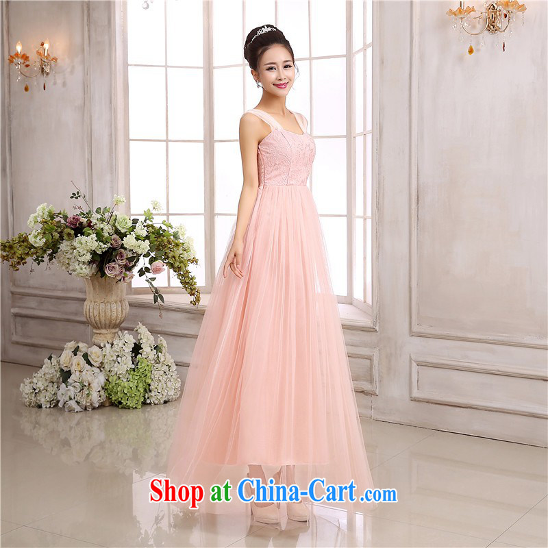The delivery package as soon as possible the new Korean-style luxury lace straps long skirt large buds Silk Dresses skirt evening show annual short skirts sister bridesmaid dress long skirt toner color code