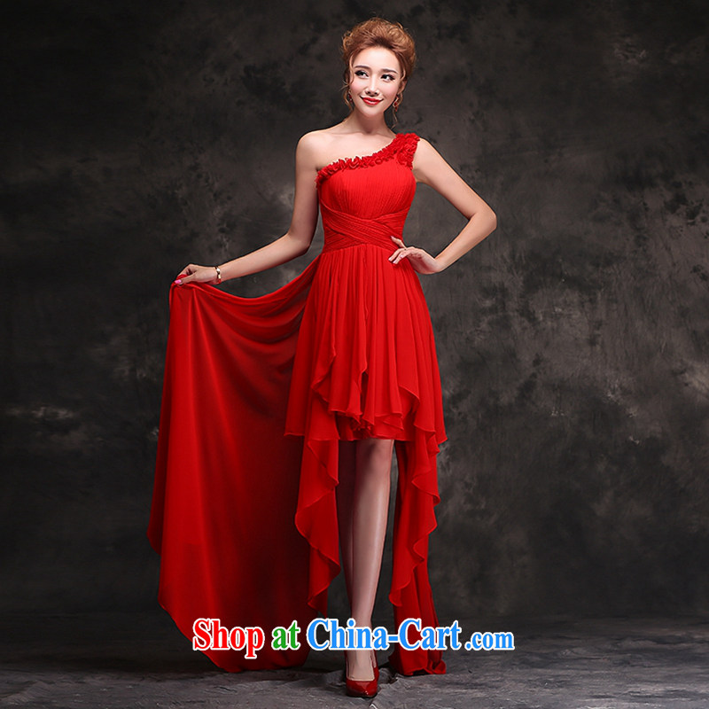 Hi Ka-hi 2014 new stylish bridal toast serving evening dress long bridesmaid red toast F serving 101 red S