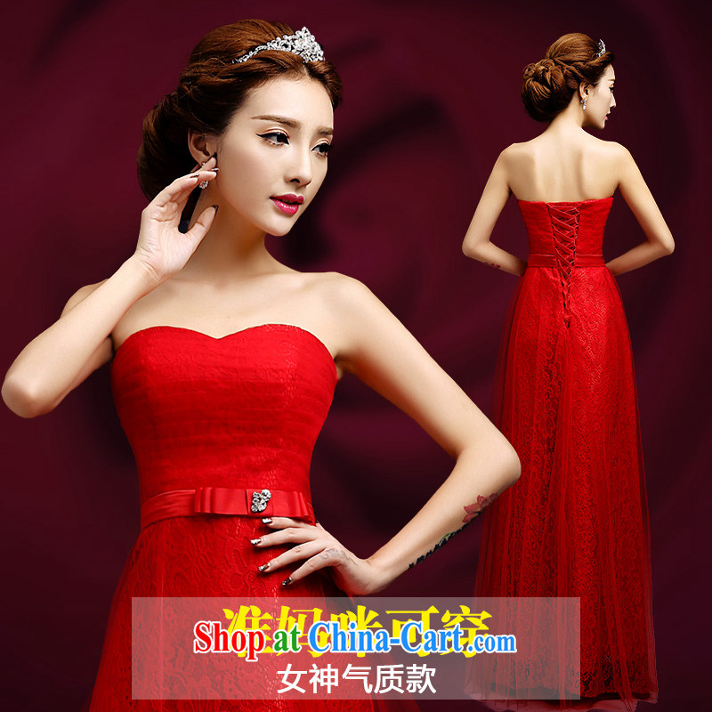 Code hang bridal 2014 stylish bridal toast new dresses, the red dress tied with pregnant women get married wedding long dress pregnant women made dresses Red. Size