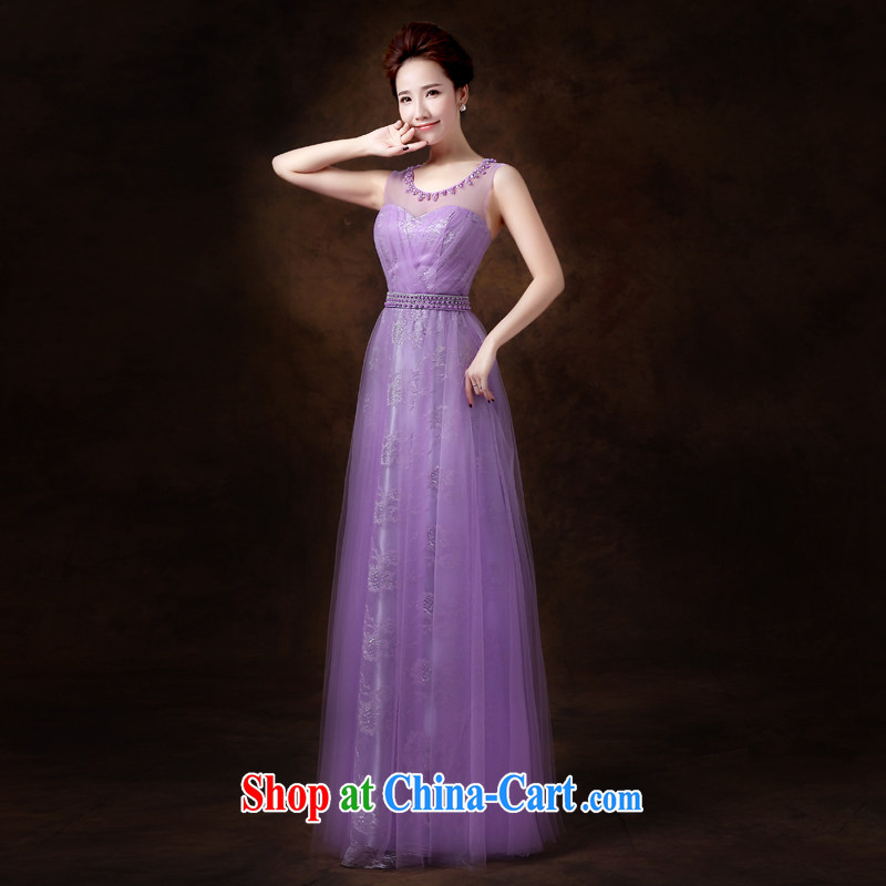 Jie MIA toast Service Bridal wedding dresses 2015 new wine red long marriage bridesmaid serving double-shoulder Evening Dress Evening Dress snow bruised XXL
