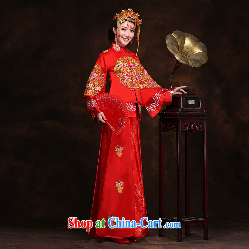 Hi Ka-hi new Chinese woman winter bridal dresses show groups serving classic wedding toast serving Phoenix XH use 99 Sau kimono XXL, Hi Ka-hi, shopping on the Internet