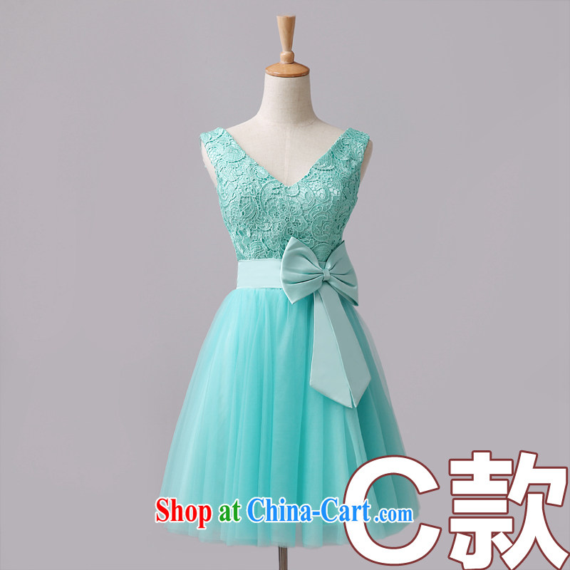 Code hang bridal bridesmaid mission small gift clothing Korean version of the new, 2014 Ice Blue lace short shaggy marriage toast 4, optional Ice Blue 6-Color Ice Blue C M paragraph