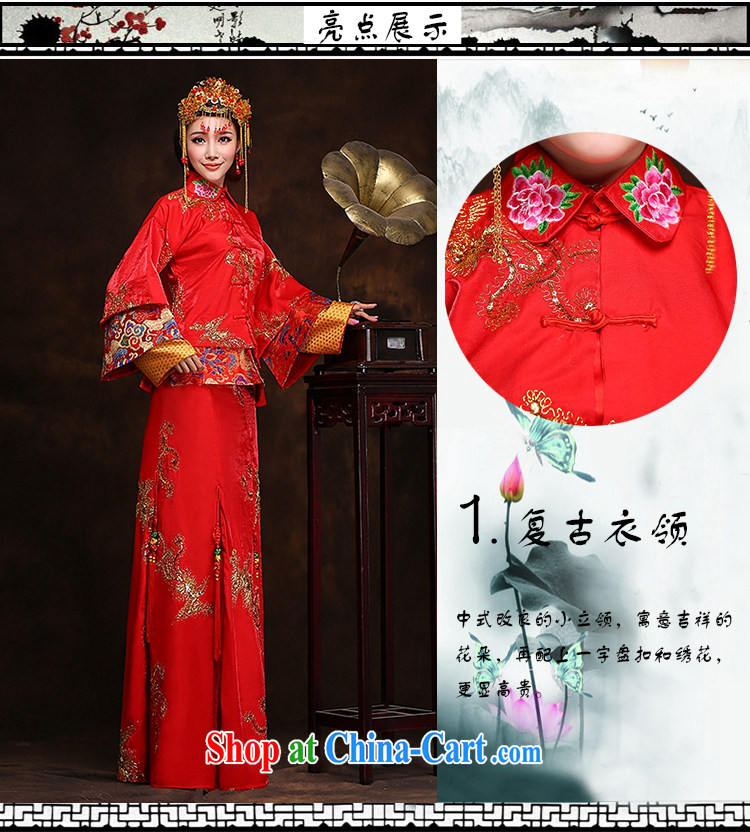 Hi Ka-hi new 2014 winter retro dresses show reel toast serving serving Chinese classical wedding dresses long XH 88 Sau wo service XXL pictures, price, brand platters! Elections are good character, the national distribution, so why buy now enjoy more preferential! Health