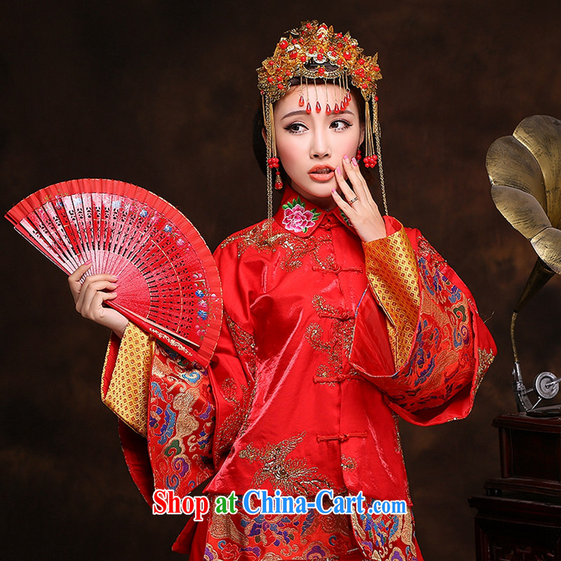 Hi Ka-hi new 2014 winter retro dresses show reel toast serving serving Chinese classical wedding dresses long XH 88 Sau wo service XXL, hi Ka-hi, shopping on the Internet