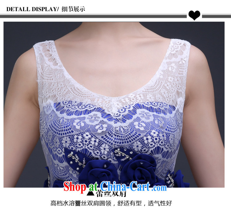 Ting Beverly dress tail 2015 annual new autumn and winter banquet bridesmaid dress stylish spring bridal toast serving long Lake Beauty blue XXL pictures, price, brand platters! Elections are good character, the national distribution, so why buy now enjoy more preferential! Health
