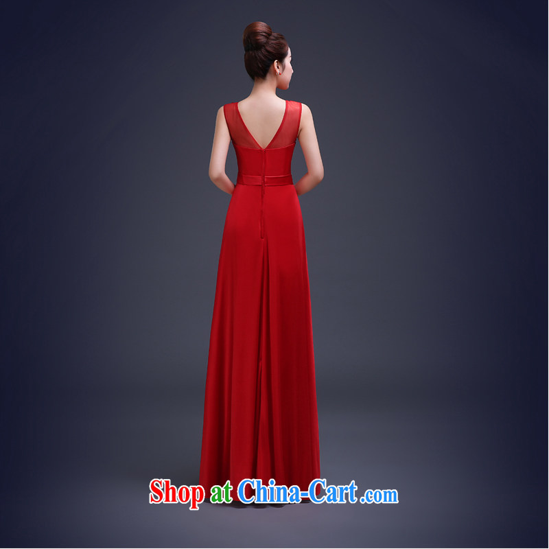 Ting Beverly toast Service Bridal Fashion 2015 spring new dual-shoulder dress red bridesmaid dress long cultivating female Red XL Ting, Beverly (tingbeier), shopping on the Internet