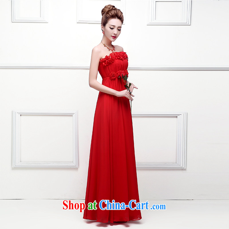 2015 new wedding dresses Korean fashion marriages served toast long high-waist annual pregnant women dress spring and summer wedding dress female Red tailored final _contact Customer Service Fill post