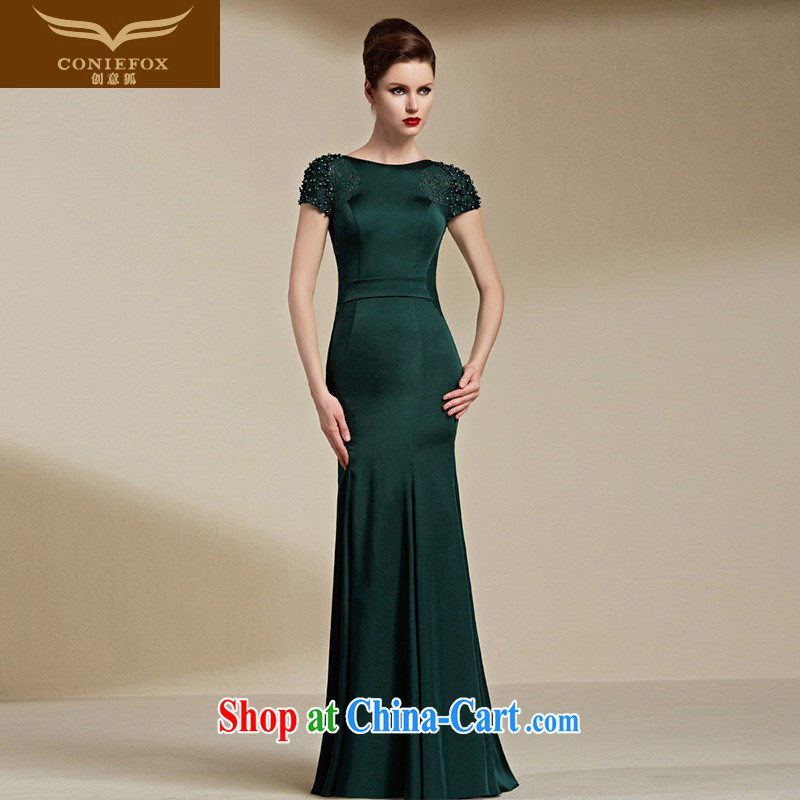 Creative Fox Evening Dress 2015 New Evening Dress girls long dress beauty long skirt the annual toast dress dress dress 30,695 green XXL