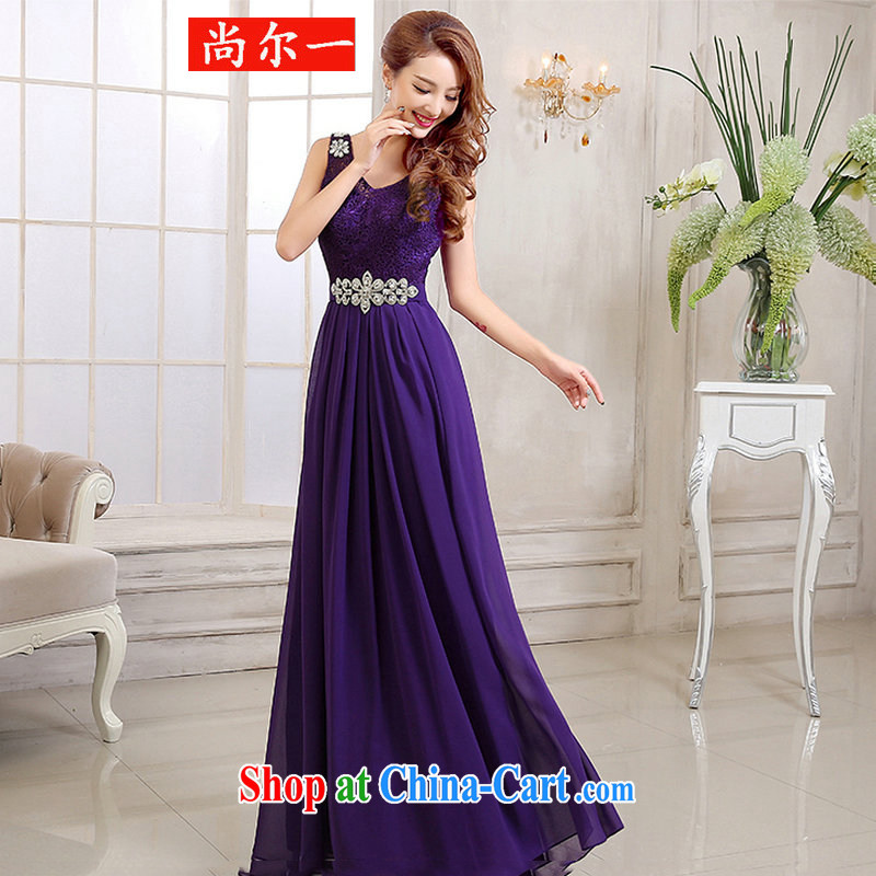 There's a dress long bows beauty service marriages red bridesmaid clothing DH 6970 purple L