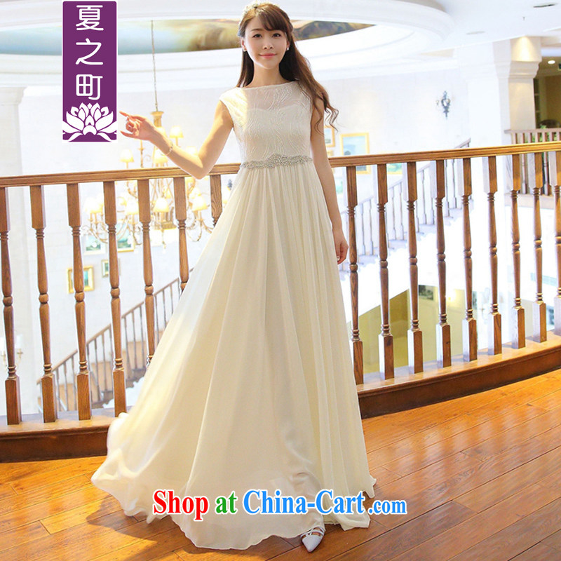 Summer of 2015 New Beauty nails pearl river water drilling fairy long skirt bridesmaid toast dinner small ceremony dress Limited Edition 1009 L picture color L
