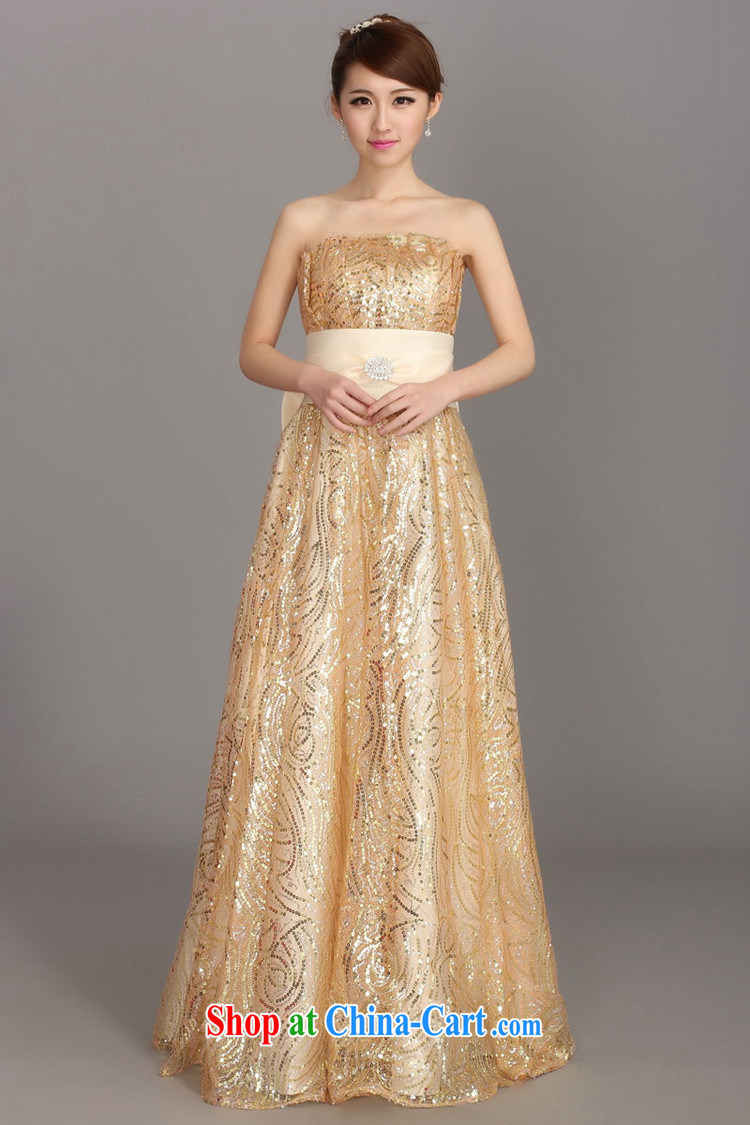 There's a dress wedding toast Service Bridal dress winter clothing fashion dresses long bridesmaid dress female DH 3413 champagne color L pictures, price, brand platters! Elections are good character, the national distribution, so why buy now enjoy more preferential! Health