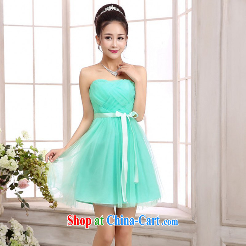 The package mail short dress bridesmaid smaller stars dress with dress sister dress sense of wrapped chest dress straps dress the dress code Green is code