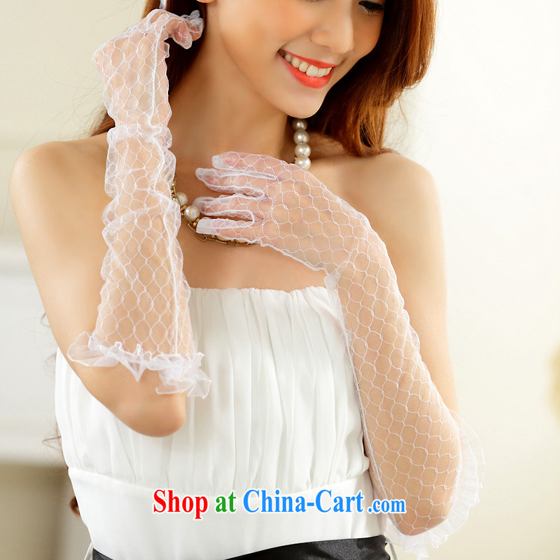 The delivery package as soon as possible e-mail wedding dresses white gloves sunscreen Web yarn gloves dress with long gloves lace Short, Thin transparent gloves with purchase long white, code