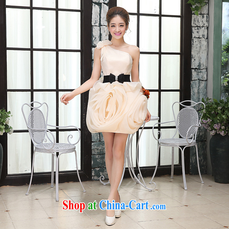 Hi Ka-Hee-won Princess bridal flowers erase chest wedding dresses bridesmaid clothing new 2015 spring X 020 champagne color XL