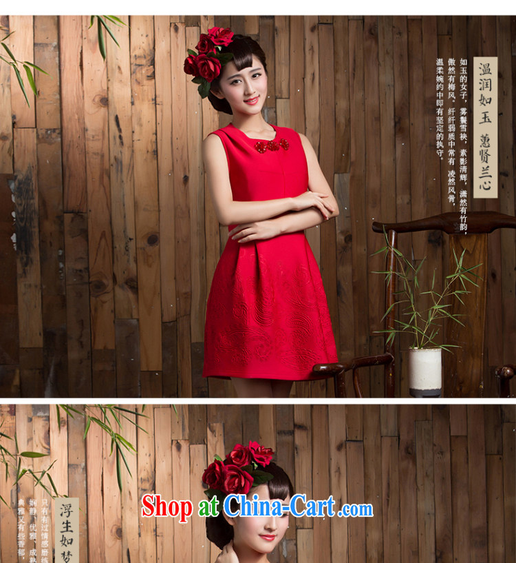 2014 new autumn and winter clothing toast wedding bridal short sleek beauty red dresses wedding dresses small red XL pictures, price, brand platters! Elections are good character, the national distribution, so why buy now enjoy more preferential! Health