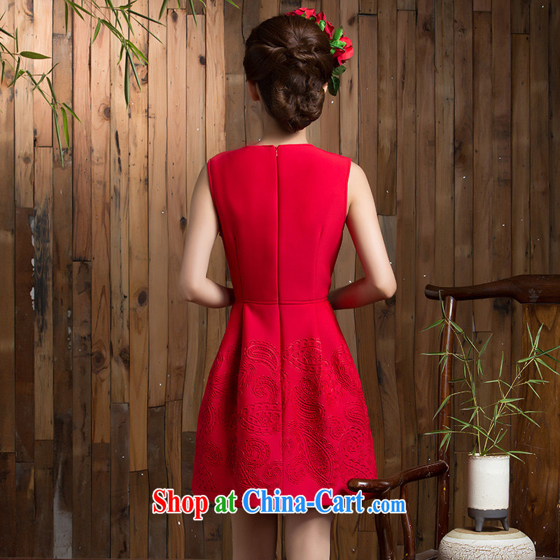 2014 new autumn and winter clothing toast wedding bridal short sleek beauty red dresses wedding dresses small red XL, non-you are not married, and, shopping on the Internet