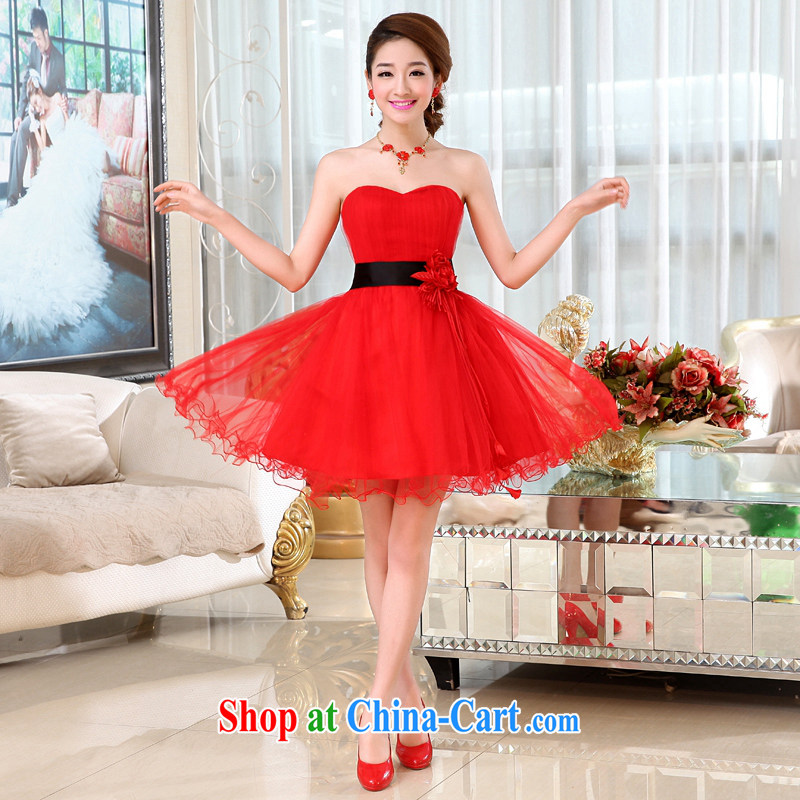 Hi Ka-Hee-won Princess bridal flowers erase chest wedding dresses bridesmaid clothing new 2015 spring X 018 red XL