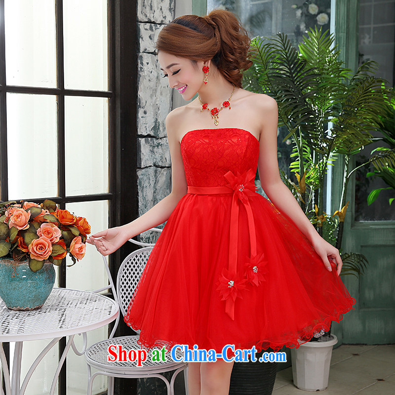 Hi Ka-Hee-won Princess bride sexy bare chest wedding dresses bridesmaid clothing new 2015 spring X 016 red S