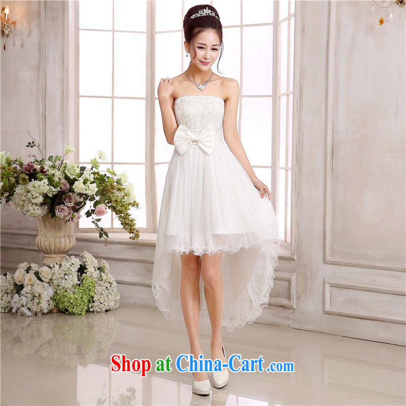 The delivery package as soon as possible the new wedding dress red wiped his chest dovetail dresses Web yarn bows dress bridesmaid sisters, long, show annual GALLUS DRESS white are code