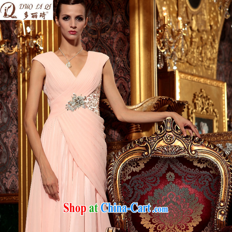 More LAI Ki pale pink beauty large yards, toast reception wedding dresses Evening Dress pink XXL