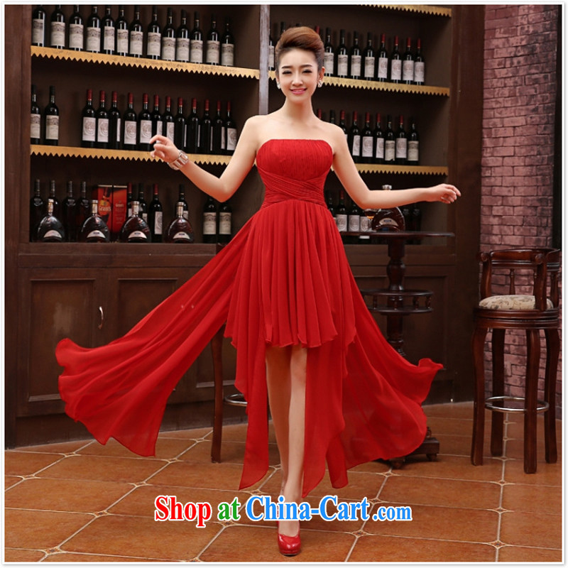 Her spirit marriage wedding dresses short bridesmaid mission the marriage tie short Evening Dress wedding dress small red XL