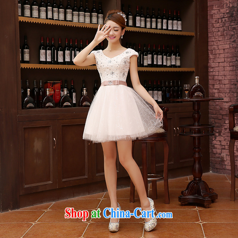 Marriage wedding dresses short bridesmaid mission the marriage tie short Evening Dress wedding dress small white XL