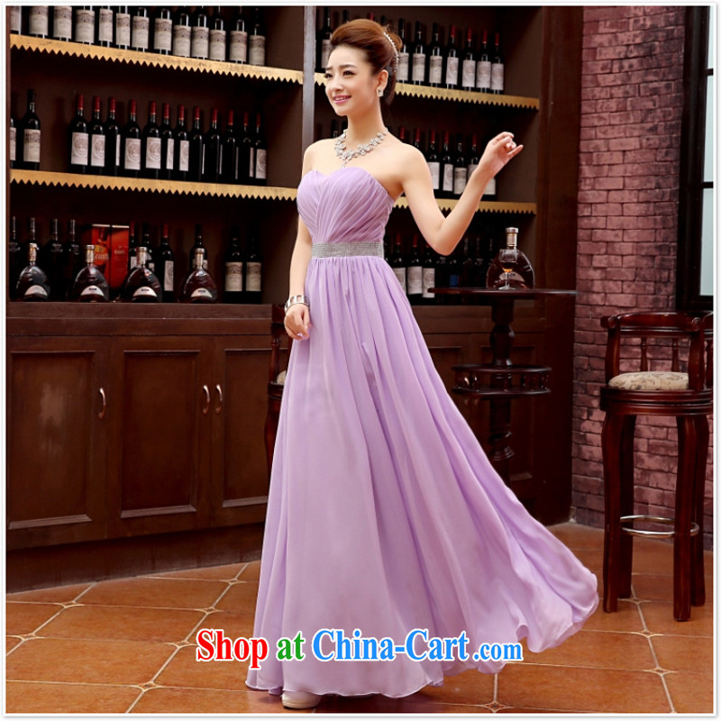 Her spirit marriage wedding dresses short bridesmaid in the wedding band short Evening Dress wedding dress small light purple XL