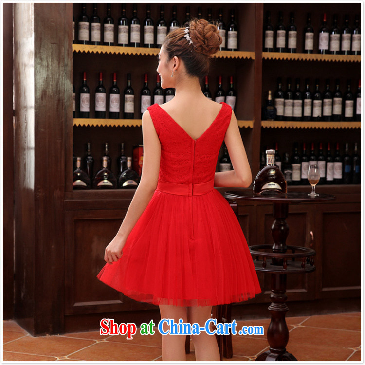 wedding dresses bridal toast service 2015 new wedding dress bridesmaid clothing dress short, double shoulder straps XXL pictures, price, brand platters! Elections are good character, the national distribution, so why buy now enjoy more preferential! Health
