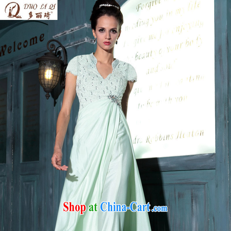 More than Li Qi long evening dress blue dress Company Annual Meeting Evening Dress 30,769 upscale Evening Dress blue XXL