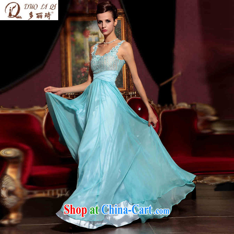 More LAI Ki dress Blue Sky snow woven gathering annual company dress wedding dresses 30,775 blue S